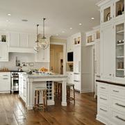 135平米简欧风格开放式厨房装修效果图赏析