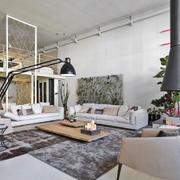 后现代风格错层客厅设计装修效果图赏析