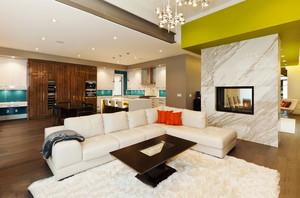 现代简约风格大户型室内客厅电视背景墙装修效果图