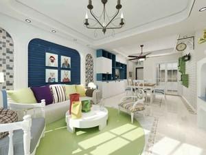 简约地中海风格三室两厅两卫室内装修效果图