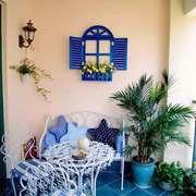 地中海风格三居室阳台设计装修效果图