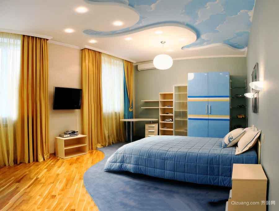 现代简约风格儿童房整体衣柜装修效果图
