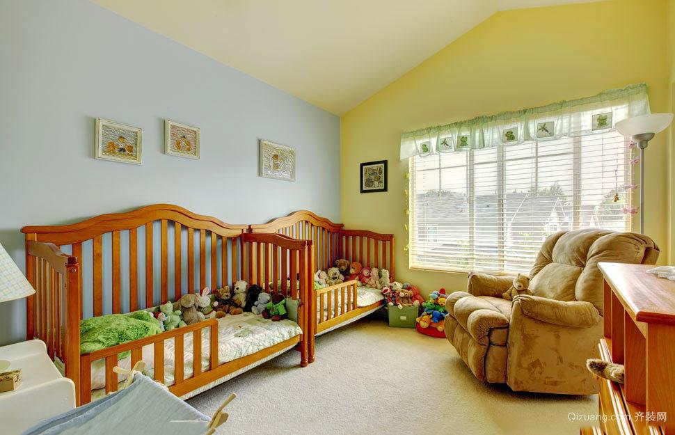 欧式田园风格儿童房设计装修效果图