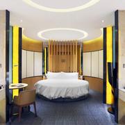 32平米现代简约风格卧室吊顶装修效果图