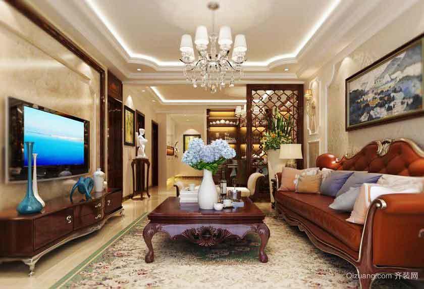 160平米古典欧式风格大户型室内装修效果图