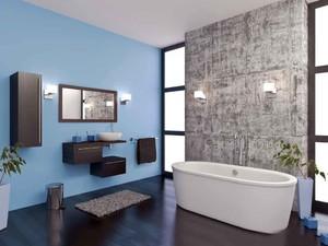 后现代风格大户型卫生间地砖装修效果图