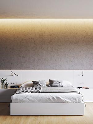 日式简约风格一室一厅一卫室内装修效果图