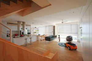 156平米简约日式风格大户型室内装修效果图