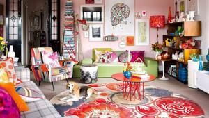 70平米北欧风格绚丽色彩客厅装修效果图鉴赏