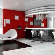 现代简约风格两居室客厅吧台设计装修效果图