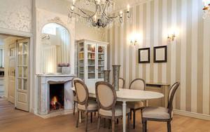 欧式风格别墅室内餐厅背景墙装修效果图