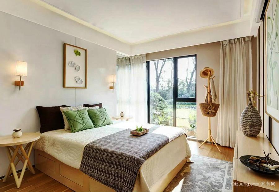 22平米东南亚风格卧室装修效果图鉴赏