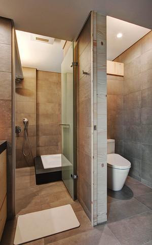 9平米现代简约风格小卫生间隔断设计效果图
