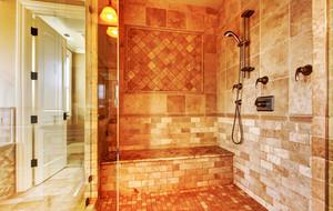 欧式风格别墅室内卫生间瓷砖设计装修效果图