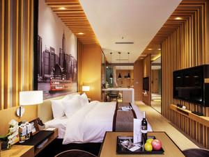 28平米后现代风格卧室背景墙装修效果图赏析