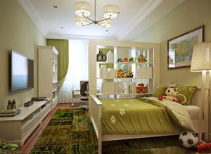 现代简约风格儿童卧室隔断装修效果图