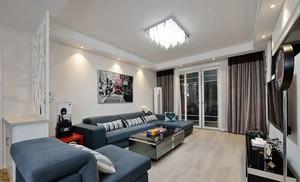 70平米现代简约风格两室一厅装修效果图案例