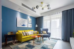 精致现代北欧风格两室两厅一卫室内装修效果图
