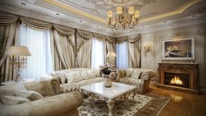 新古典风格豪华大别墅室内装修效果图鉴赏
