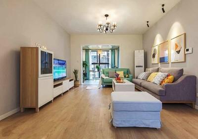 90平米自然舒适宜家风格三室一厅装修效果图