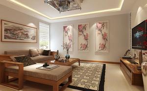 80平米中式风格室内装修效果图鉴赏