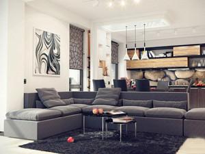 现代风格时尚创意客厅装修效果图大全
