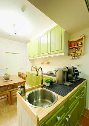清新舒适欧式田园风格两室两厅室内装修效果图