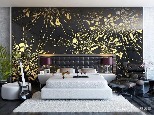 后现代风格创意时尚卧室背景墙装修效果图大全