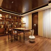 143平米新中式风格书房装修设计效果图赏析