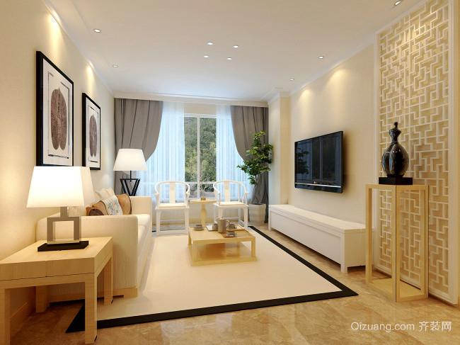 现代风格二居室客厅吊顶装修效果图鉴赏