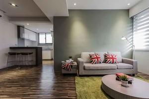 40平米现代美式风格单身公寓装修效果图