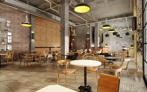 180平米现代工业风格咖啡厅装修效果图赏析