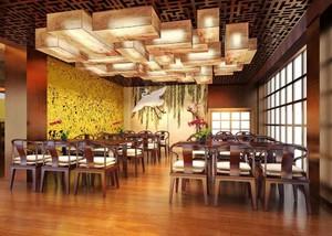 70平米中式风格茶楼装修效果图赏析