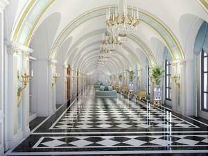 欧式风格奢华精致酒店沙发装修效果图