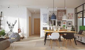 55平米北欧风格小户型室内装修效果图赏析