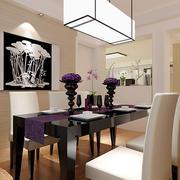 现代风格小户型餐厅背景墙装修效果图赏析