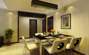 80平米现代风格餐厅吊灯装修效果图鉴赏