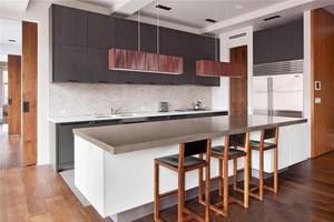 后现代风格大户型开放式厨房吧台设计装修效果图鉴赏