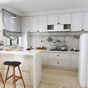 50平米北欧风格开放式厨房吧台装修效果图