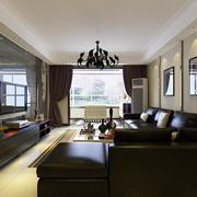 后现代风格三居室客厅电视背景墙装修效果图