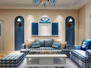70平米地中海风格两室一厅室内装修效果图