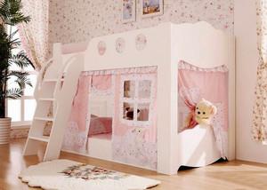 欧式田园风格温馨舒适双层儿童床装修效果图