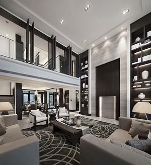 后现代风格豪华别墅室内装修效果图鉴赏