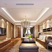 简欧风格三居室客厅吊灯设计装修效果图