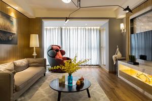 现代简约风格一室一厅一卫室内装修效果图赏析