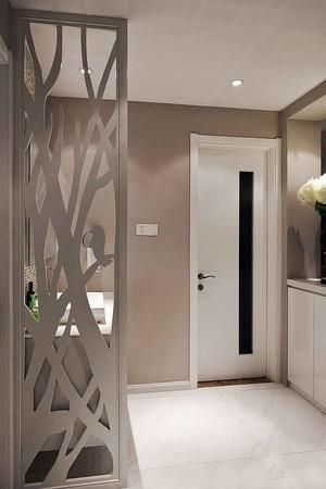 现代简约风格两居室进门玄关隔断设计装修效果图