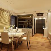 75平米现代简约风格餐厅酒柜设计效果图