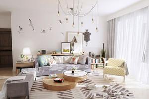 简约北欧风格小户型客厅装修效果图赏析