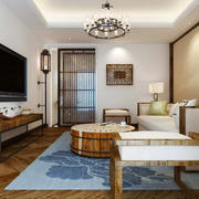 现代美式风格三居室客厅装修效果图赏析