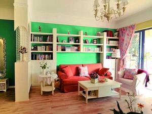 欧式田园风格两室两厅室内装修效果图赏析